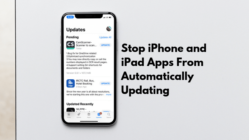 How to Stop iPhone and iPad Apps From Updating Automatically