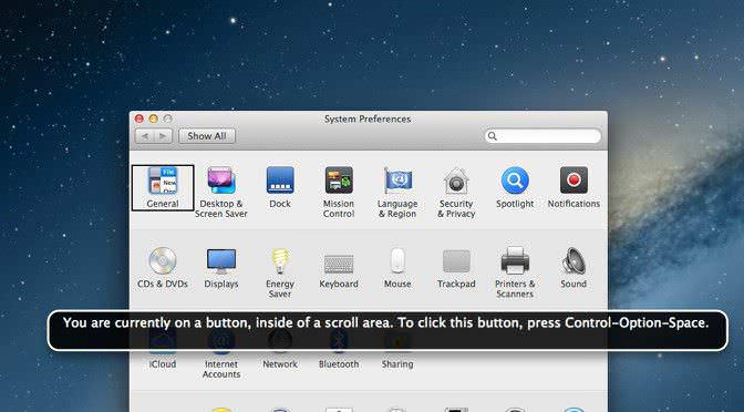 How to turn off Voice Over on Mac OSX